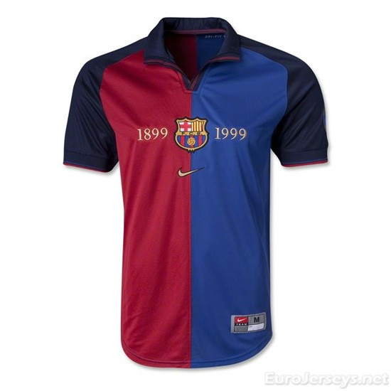 Barcelona 1999-2000 Home 100-Yeas Anniversary Cheap Soccer Jerseys
